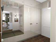 Projekt kawalerki Ursynów 33m2 - Hol / przedpokój, styl nowoczesny - zdjęcie od Hirszberg Pracownia Architektoniczna
