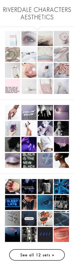 """""""RIVERDALE CHARACTERS AESTHETICS"""" by cleobluesky ❤ liked on Polyvore featuring art, bughead, aesthetic, riverdale, jasonblossom, moodboard and VeronicaLodge"""