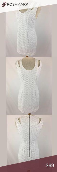 Rebecca Minkoff eyelet dress SKU: SD15390  Length Shoulder To Hem: 32 Bust: 35 Waist: 30 Fabric Content: 100% Cotton Lining Fabric: 100% polyester Rebecca Minkoff Dresses