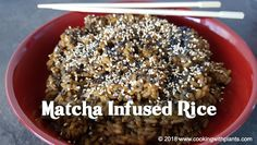 Today I show you how to make matcha rice - the easy way! This tasty Japanese style matcha rice is healthy, delicious and quick to reach your table. Delicious Vegan Recipes, Yummy Food, Healthy Recipes, Tasty Recipe, Healthy Meals, How To Make Matcha, Japanese Matcha, Grain Foods, Plant Based Recipes