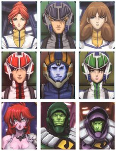 Robotech Character Screens by #UdonCrew on deviantART