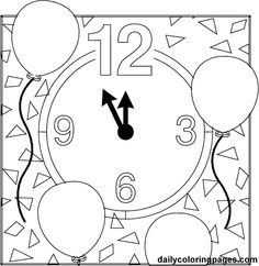 new year's coloring pages | New Year's Eve Coloring Pages Holiday