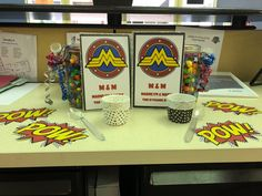 Desk Celebration Decorations That Are Way Too Fun For Work - Dynamic duo first day design Birthday Decorations, Desk Decorations, Coworker Birthday Gifts, Good Pranks, Best Desk, Office Decor, Celebration, Fun, Blog