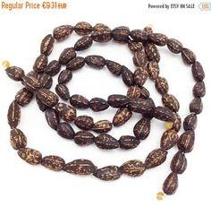 Pagsahingin Samen, antik schwarz, 1 Strang, 12mm,