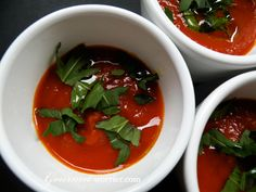 Tomato and Fig Soup via Gourmet Worrier