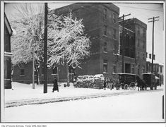 Was browsing the Toronto Archives and put together a collection of vintage Toronto winter photographs from ca. 1890 - 1950 of past snowfalls in Toronto. Toronto Snow, Toronto Winter, Toronto Ontario Canada, Vintage Photographs, Vintage Photos, St Patrick, Past, Snow Storms, History
