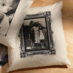 Personalized Photo Accent Pillow With Antique Border