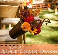 Frugal Bride - DIY Aisle Chair Decor ~ Live-Love-Be Well Live Love, Frugal, Diy Wedding, Strong, Table Decorations, Bride, Chair, Home Decor, Wedding Bride