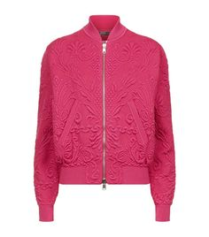 Alexander McQueen Jacquard Knit Bomber Jacket available to buy at Harrods. Shop Alexander McQueen online and earn Rewards points.