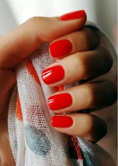bold red bridal mani