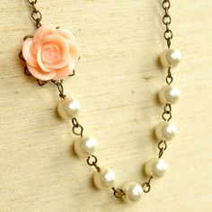 Resin flower with pearls