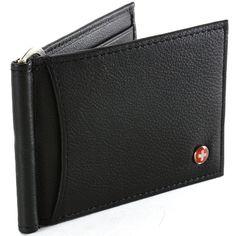 Alpine Swiss RFID Blocking Men's Wallet Leather Front Pocket Spring Money Clip…