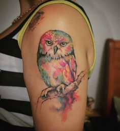 Tintas Electric ink  #owl #electricink #love #cute #tattoos #girl #color #watercolor #everlast #ink #tattoo