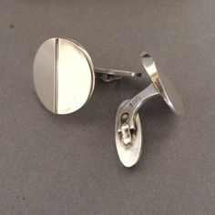 Gallery 925 - Georg Jensen Modernist Cuff Links by Steffen Andersen No.106. Handmade Sterling Silver.
