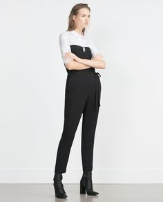 ZARA - NEW IN - LOOSE-FIT TROUSERS