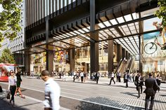Image 2 of 2 from gallery of Make Architects Picked for Sydney's Wynyard Station Overhaul. Photograph by Make Architects Wynyard Station, Shell House, Brookfield Place, Central Business District, Thing 1, Architecture Visualization, Commercial Interior Design, Grand Entrance, Building Design