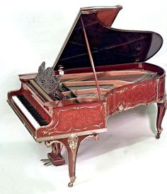 French-Louis-XV-Style-Ormolu-Mounted-Kingwood-Tulipwood-amp-Parquetry-Grand-Piano