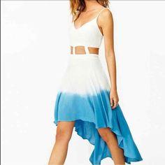 High-Low Dip Dye Dress