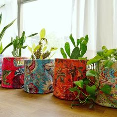 Kantha baskets from VLiving