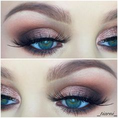 Recreate this look using the following Younique makeup products: Prime entire lid, Moodstruck Addiction Palette 1 & 2; Brassy on entire lid, Chipper on outer crease, Honorable on inner crease, line lower lash line with Chipper & then a finer line with Cocky, use Cocky on water line, use Cocky on outer corner of lid, blend crease to brow with Angelic Mineral Pigment, use Romantic on inner corner & finish with 3D+ Fiber Lash mascar.