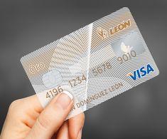Banco León cards on Behance