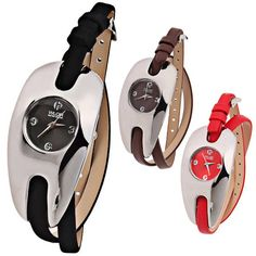 WLQR 4 Arabic Numbers Hour Marks Watch with Arch Dial & Leather Band for Women - Assorted Color