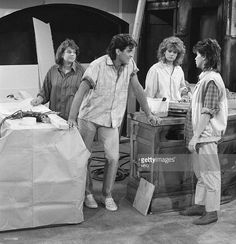 LIFE, THE -- 'Into the Frying Pan' Episode 2 -- Aired -- Pictured: (l-r) Mindy Cohn as Natalie Letisha Sage Green, George Clooney as George Burnett, Lisa Whelchel as Blair Warner, Nancy McKeon as Joanna 'Jo' Marie Polniaczek Bonner -- Photo by: Paul Drinkwater/NBCU Photo Bank