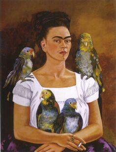 Frida Kahlo — Me and My Parrots, 1941, Frida KahloSize: 82x62.8...