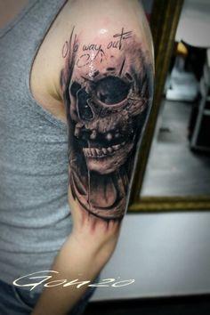 #skull #anchor #blackgrey #tattoo #tattoos #tattooed #tatt #tatts #ink #inked #ES13 #elektrischer #stuhl #halle #saale #hallesaale #grh13 #beeebaaaabuuub #bulletstattooink #carbonblack #inkjecta #flitev2 #tattoosafe #easegrease143