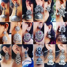 Best sellers of jhaanjhariya, swipe to see clear pictures ❄️ ! to place your order what's app at 9015877792 or dm us ! go buy yours and… Indian Jewelry Earrings, Jewelry Design Earrings, Silver Jewellery Indian, Indian Wedding Jewelry, Bridal Jewelry, Silver Jewelry, Jhumki Earrings, Fashion Earrings, 925 Silver