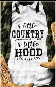 About Little Country Little Hood Tank Top This tank top is Made To Order, we print one by one so we can control the quality. We use DTG Technology to print Little Country Little Hood Tank Top T Shirt Custom, Custom T, Country Shirts, Country Outfits, Country Tank Tops, Country Fashion, Just In Case, Just For You, Vinyl Shirts