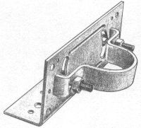 """Hoover Fence - Use this handy adapter to mount wood fence 2"""" x 4"""" rails to 2"""" (1 7/8"""") O.D. round steel posts or 2 1/2"""" (2 3/8"""") O.D. posts"""