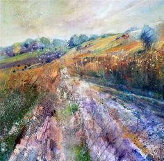 Broadstone – Ashdown Forest Acrylic on canvas _by Lorna Holdcroft