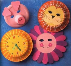 crafts with plates Paper Plate Art, Paper Plate Animals, Paper Plate Crafts, Paper Plates, Kids Crafts, Summer Crafts, Creative Crafts, Diy And Crafts, Cake Liner