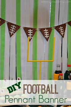 How to Make A DIY Football Pennant Banner - so easy and quick to put together!