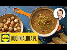 (26) Zupa cebulowa z pulpecikami - Karol Okrasa - przepisy Kuchni Lidla - YouTube Lidl, Kaito, Vegetables, Ethnic Recipes, Youtube, Food, Essen, Vegetable Recipes, Meals