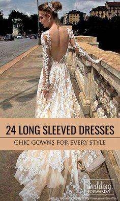 24 Chic Long Sleeved Wedding Dresses ❤ Long sleeve wedding dresses are breathtaking, elegant and totally modern. See more: http://www.weddingforward.com/long-sleeved-wedding-dresses/ #wedding #dresses
