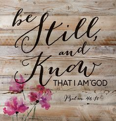decorative wall art of Psalm 46:10