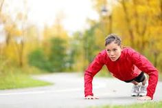 Photo about Crossfit woman doing push-ups during outdoor cross training workout. Beautiful young and fit fitness sport model training outside in fall. Image of fall, focus, active - 26260939 Strength Training For Runners, Strength Workout, Cross Training Workouts, Weight Training, Training Programs, Workout Programs, Running Muscles, Turkish Lessons, Increase Muscle Mass