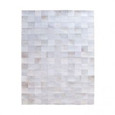 By-Boo vloerkleed 'Patchwork Leather' 160 x 230cm, kleur wit