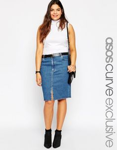 54545e08713 11 Denim Skirts That Are So  90s You ll Feel Like You re