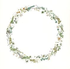 Wreath Watercolor, Watercolor Projects, Watercolor Paintings, Retro Background, Flower Frame, Flower Circle, Flower Patterns, Gouache, Floral Backdrop