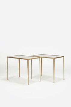 Pair of Brass Side Tables Vereinigte Werkstätten München