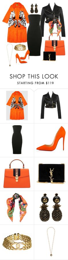 """Untitled #155"" by imagekollection ❤ liked on Polyvore featuring Gucci, Rick Owens, Christian Louboutin, Yves Saint Laurent, Valentino and Chanel"