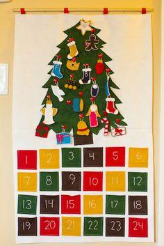 DIY Felt Advent Calendar.  Cute idea.. maybe turn this idea into more of a Jesse tree theme?