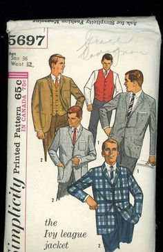 McCalls 5697 Vintage 1960s Sewing Pattern by ThreadandBrushStudio, $12.00
