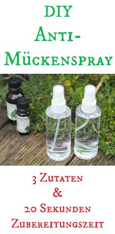 DIY Mückenspray As soon as the sun is here and summer comes, the mosquitoes will come. For this I use this DIY anti - mosquito spray. There is no better mosquito repellent and it is made in less than Best Mosquito Repellent, Mosquito Spray, Anti Mosquito, Wine Bottle Crafts, Jar Crafts, Trailers Camping, Blog Food, Diy Beauty, Beauty Care