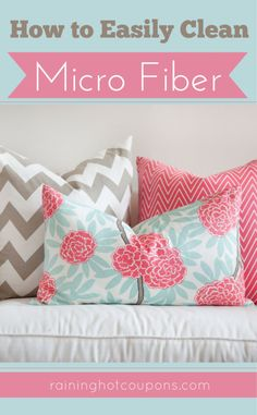 How To Easily Clean Microfiber