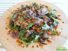 Una sencilla lechuga puede convertirse en un plato muy completo y saludable. Con setas Shiitake -una de las variedades que más propiedades medicinales tiene