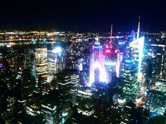 Breathtaking view of NYC from the top of Empire State Building..
